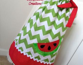 Juicy Watermelon Chevron Pillowcase Dress