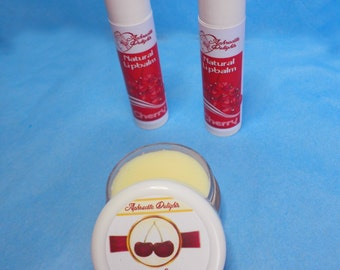 Natural Handmade Lip Balm - Cherry