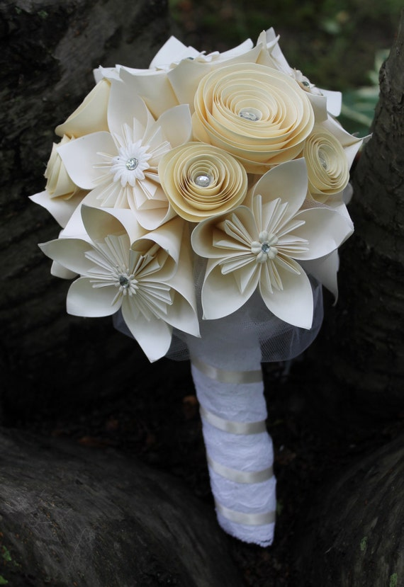 origami and spiral bouquet any colour bride by