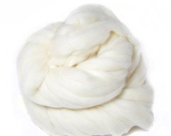 Polwarth wool Spinning Felting Spinning Undyed Ecru Raw Top Roving - 4 oz