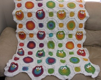 Owl Obsession (Knit Picks Version) Baby Blanket