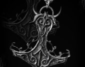 handmade Mjolnir pendant, Thorned Mjolnir, thor hammer, viking pendant necklace, pagan jewelry, wicca,  viking metal, amon amarth, thunder