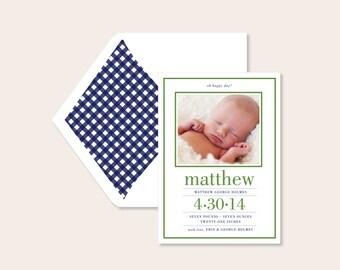 Letterpress Birth Announcements