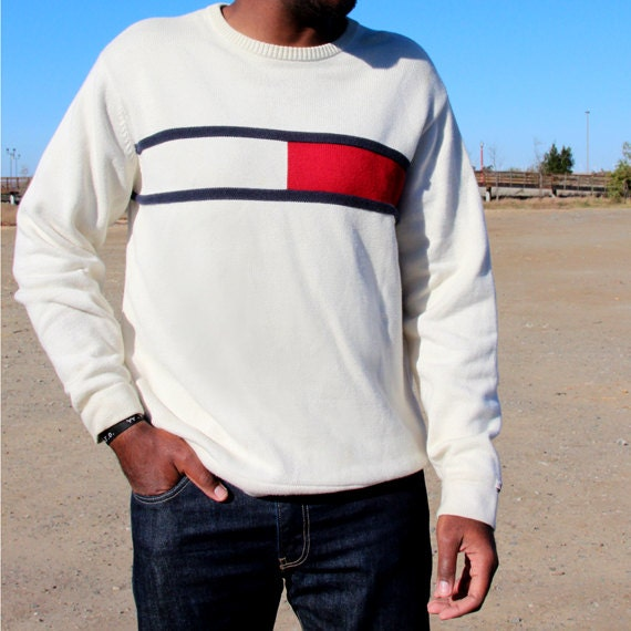 Mens Vintage Tommy Hilfiger Crew Neck Sweater