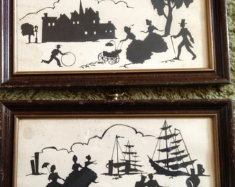 Vintage Silhouettes C&A Richards Panel Prints PS-880 Series #6