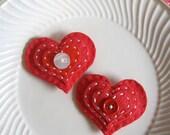 RED HEART VALENTINE, hair clip