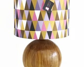 "Modern Lamp Shade - 12"" Drum - Geometric- Triangles -"