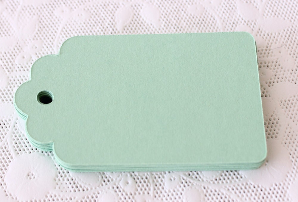 50 Mint Green Price Tag Hang Tag Gift Tag Wedding Favor