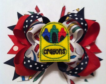 Loopy Layered Felt Crayon Box Hairbow