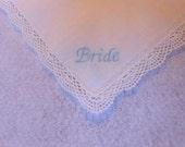 Bride Handkerchief With Lace Trim