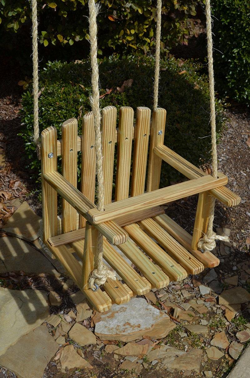 LARGE SIZE PINE Kids Wooden Swing Backyard Outdoor Toys