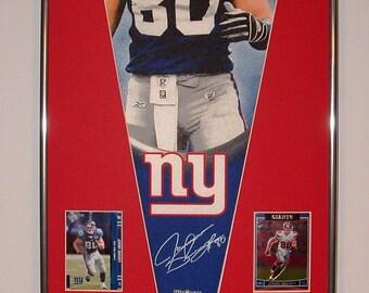 NY Giants Jeremy Shockey Pennant & Cards...Custom Framed!!!