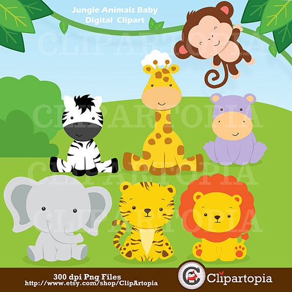 animals baby digital clipart safari animals clip art zoo animals ...