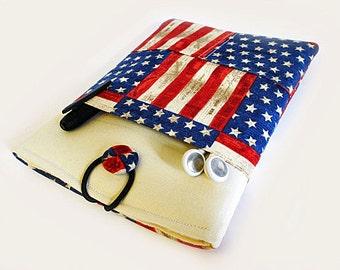 Macbook Air Case, Macbook Air Cover, 13 inch Macbook Air Cover, 13 inch Macbook Air Case, Laptop Sleeve, American Flag
