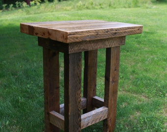 Barn Wood Pub Table | Farmhouse Style Furniture | FREE SHIPPING In The USA