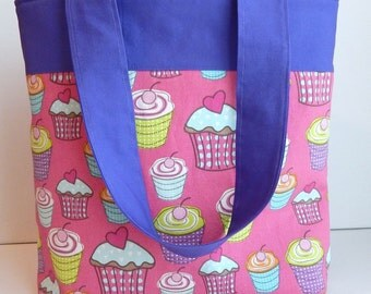 Sweet Pink Cupcakes Tote
