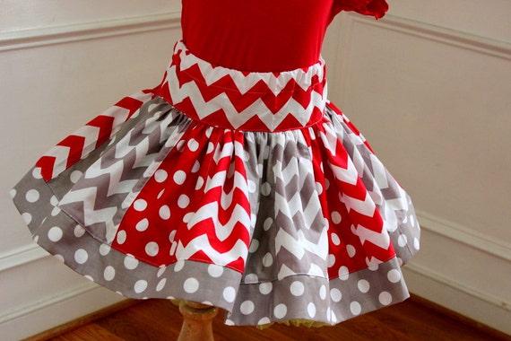 Items similar to Girls Christmas skirt. Toddler baby girl ...