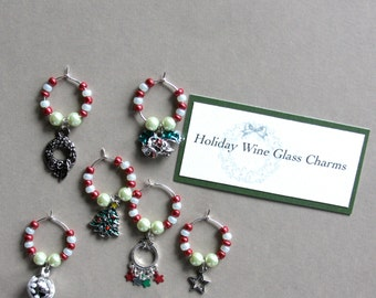 Holiday Wineglass Charms