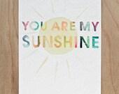You are my sunshine Postcard (Set of 2)