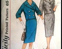 Simplicity 3826  Misses' Suit and Double Breasted Suit   Size 14  UNCUT