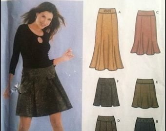 Simplicity 5351  Six Skirts Made Easy  Size (4-10)  UNCUT
