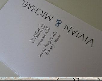 Printable Folded Wedding Program - Urban Affair