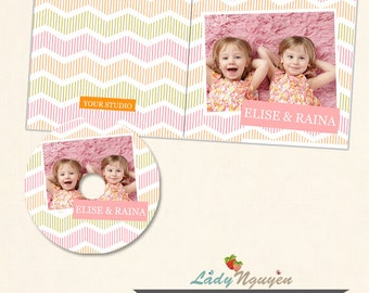 Instant Download CD/DVD Label and cover templates - CD032
