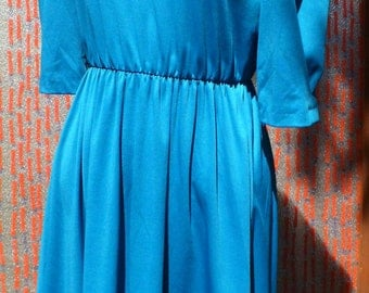 Vintage Tagless Teal dress