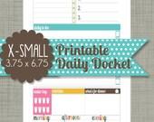 "X-Small {Printable} Daily Docket - Personal Sized 3.75 x 6.75"" PDF"