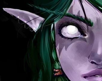 World of Warcraft - Night Elf Print