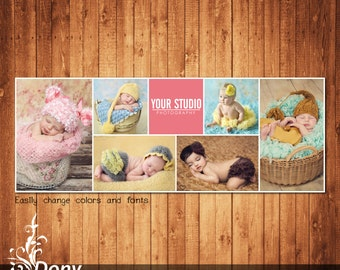 Facebook timeline cover template photo collage - Photoshop Template Instant Download - BUY 1 GET 1 FREE: fc306
