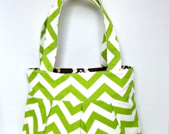 Diaper bag purse school bag in choice of fabric and lining- 2 pockets.  you customize
