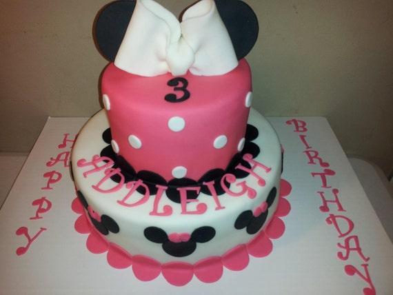 fondant minnie mouse cake
