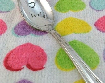 Baby spoon baby shower gift personalized name spoon handmade hand stamped baby spoon gift under 20 personalized gift baby gift baby negle Gallery