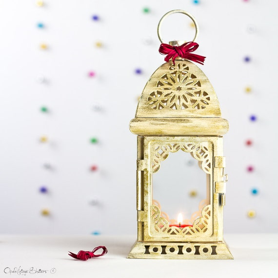 Champagne Gold Lantern Home Decor Moroccan Lantern Decor Candle Holders Tealight Holder French Lantern Beach Wedding Decor Ivory Lantern