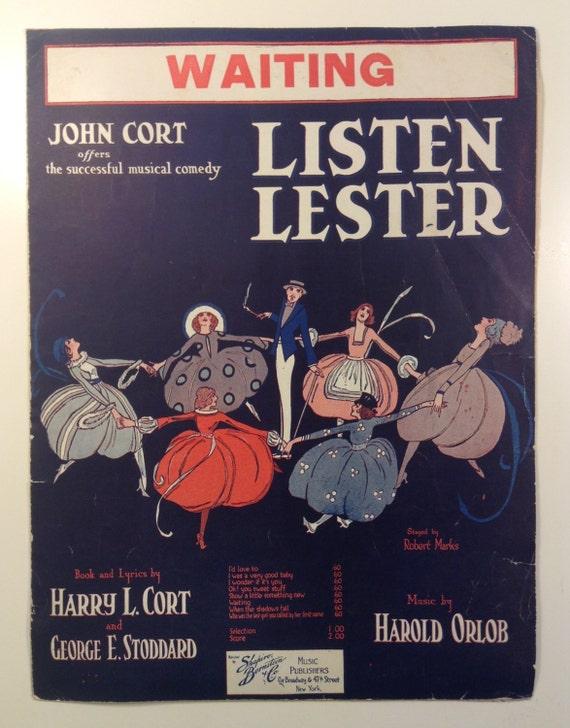 Listen Lester - Sheet Music