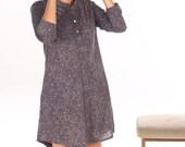 Patternrd dress, Patterned tunic, everyday dress, long sleeves