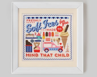Ice Cream Sampler Cross Stitch Pattern (Digital Format - PDF)