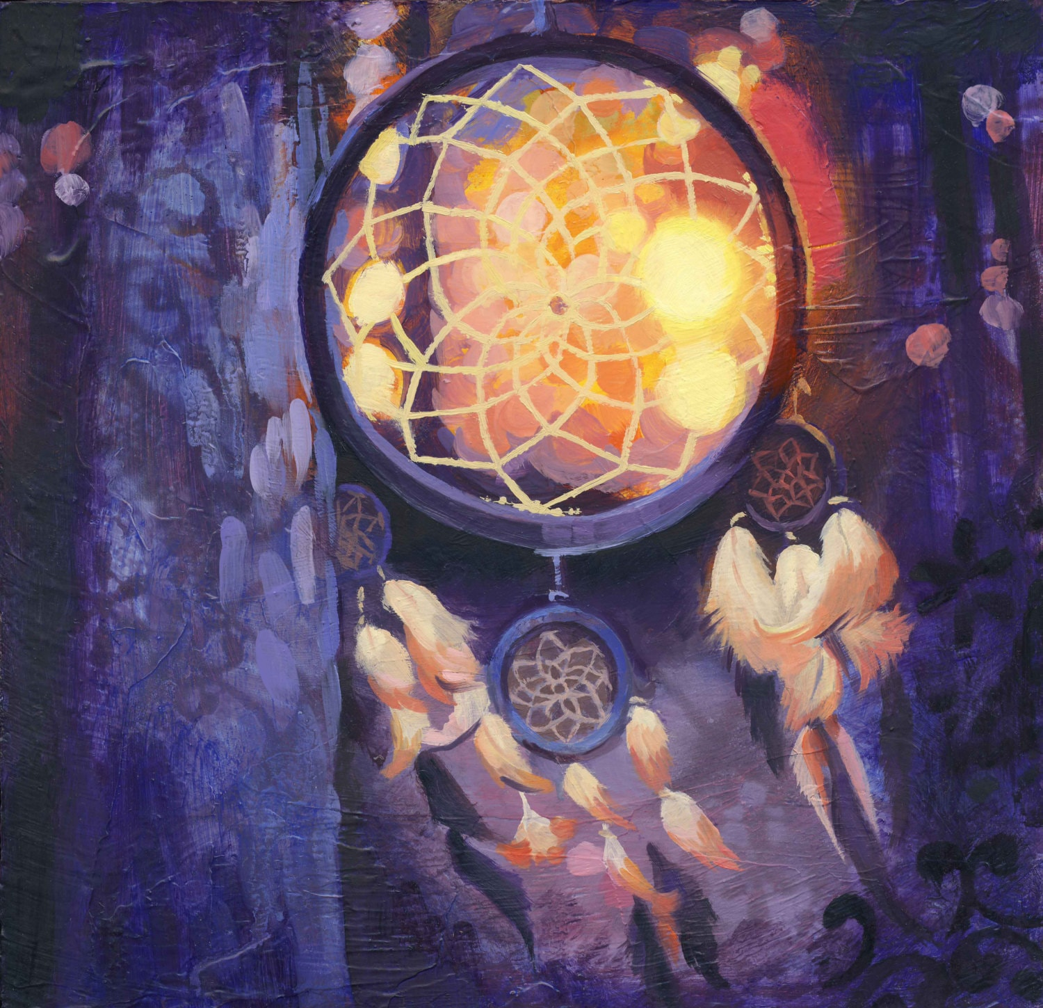 Sunset Dream Catchers Art Print by Heather Teran