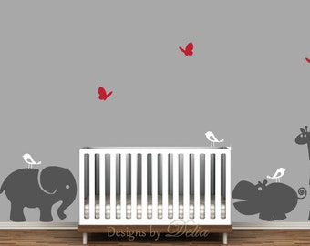 Nursery Wall Decals With Jungle Animals