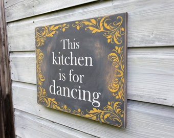 kitchen sign kitchen decor grey y ellow wall art rustic word art