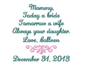 MOTHER Of The BRIDE Handkerchief - Mom - MoB - Wedding - Hanky - Hankie - Today A Bride, Always Your DAUGHTER