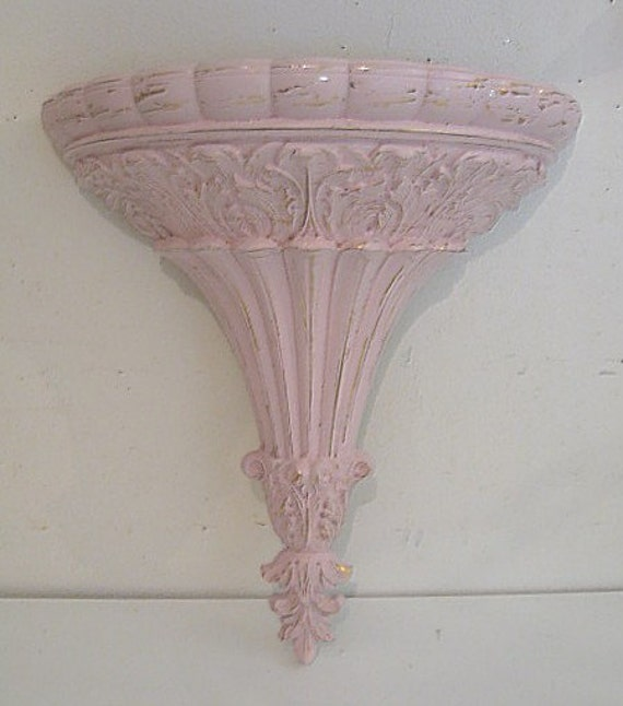 Discontinued Home Interiors Pictures: Retired Home Interiors Homco Large Shabby Pale Pink Very