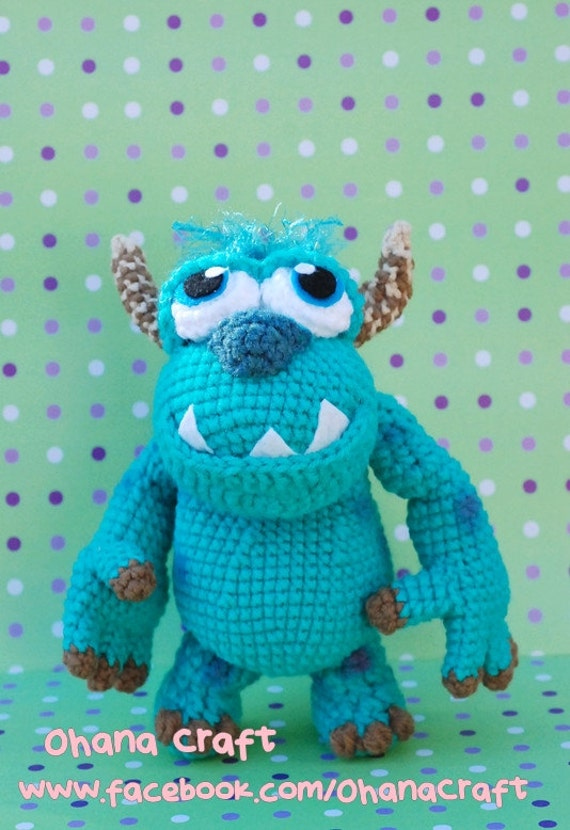 Amigurumi Monsters Inc : Monster Amigurumi Crochet PDF pattern