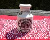 Antique French mustard jar from Sarreguemines