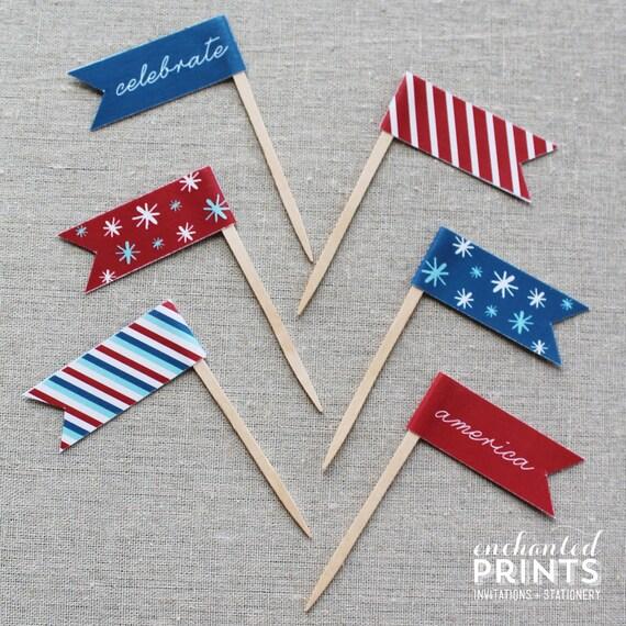 Patriotic Party Flags