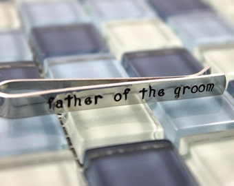 Father of the Groom Tie Clip / Father of the Groom Tie Bar / Personalized Tie Clip / Personalized Tie Bar / Father Wedding Gift