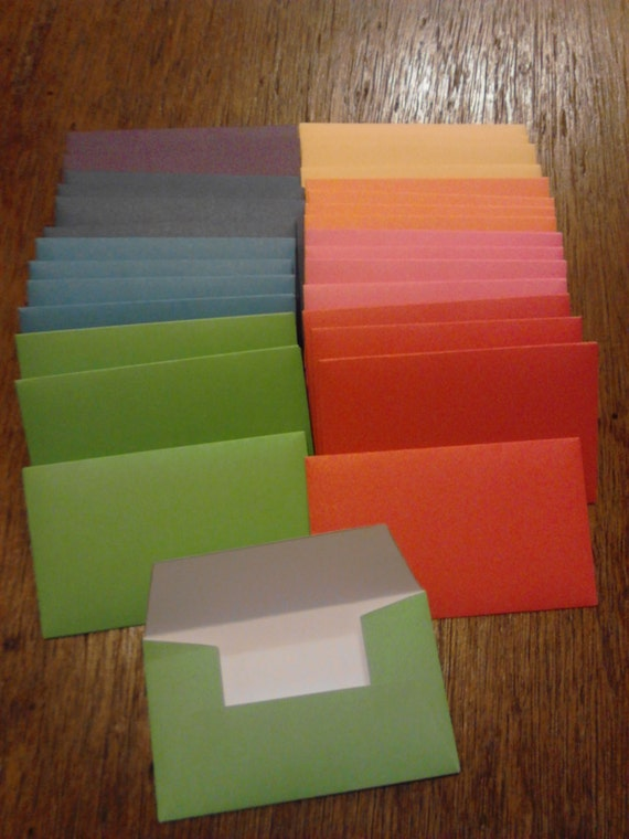 Solid Gift Card Envelopes Business Card Envelope by