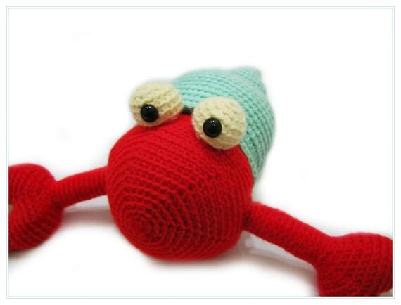 Amigurumi Hermit Crab : Crochet Hermit Crab Amigurumi Aquatic Animal Stuffed Toy