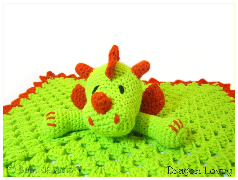 Crochet Dragon Blanket Dragon Crochet Lovey Blanket